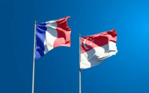 Beautiful National State Flags France Singapore Together 337817 1537.Jpeg